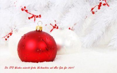 Wir wünschen eine schöne Weihnachtszeit und ein gutes neues Jahr 2021!