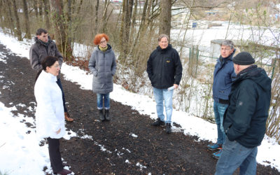 Ortstermin mit Interessengemeinschaft BliG in Gerlingen